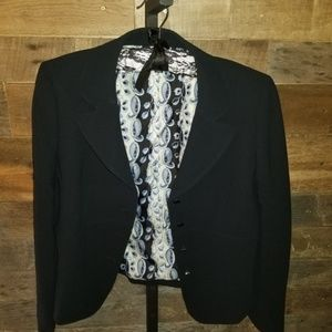 Tahari 8P Dark Color Blazer